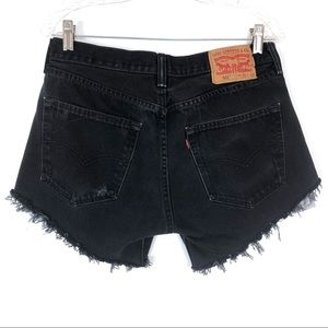 Vintage 501 Levi's Button Fly Cutoff Denim Shorts
